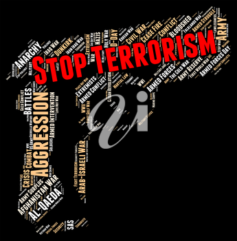 Stop Terrorism Showing Freedom Fighters And Hijacker