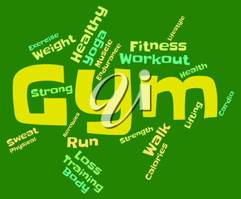 Wordcloud Fitness Meaning Physical Activity And Trained