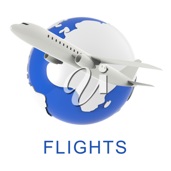 Airplane Flights Representing Travel Guide And Travelled 3d Rendering