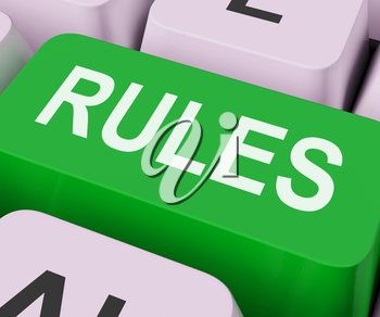 Rules Keys Showing Guidance Policy Or Regulations