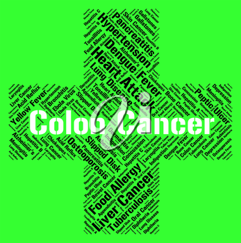 Colon Cancer Indicating Malignant Growth And Disorder