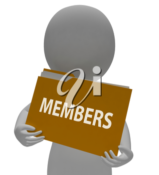 Members Folder Showing Join Up 3d Rendering