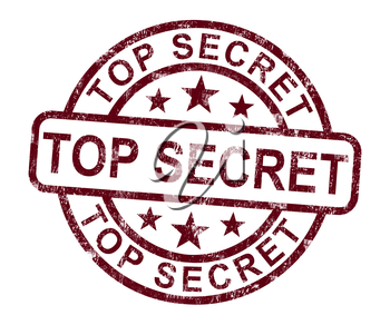 Top Secret Stamp Showing Classified Private Correspondence