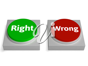 Right Wrong Buttons Showing True Or False