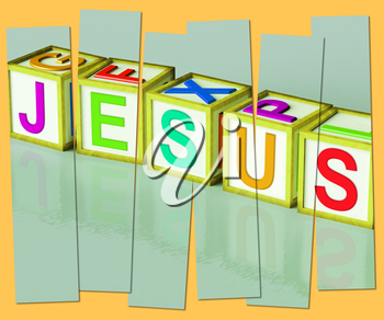 Jesus Word Showing Son Of God And Messiah
