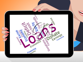 Loans Word Representing Text Advance And Borrows
