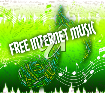 Free Internet Music Representing Sound Tracks And Network