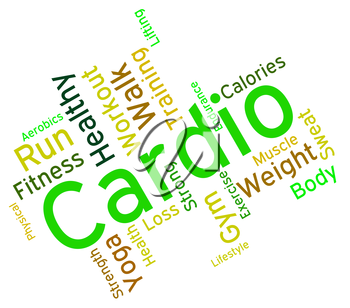 Cardio Word Representing Get Fit And Gym