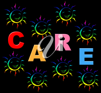 Kids Care Representing Looking After And Youths
