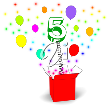 Number Five Surprise Box Meaning Surprise Party Or Festivity