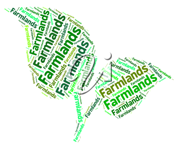 Farmlands Word Meaning Cultivate Farmed And Farmstead
