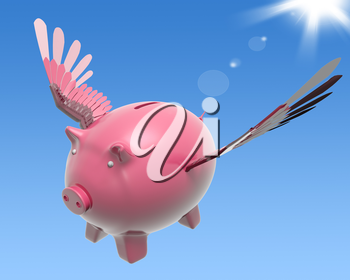 Flying Piggy Showing High Prosperity And Investment