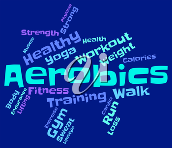 Aerobics Words Showing Get Fit And Wordcloud