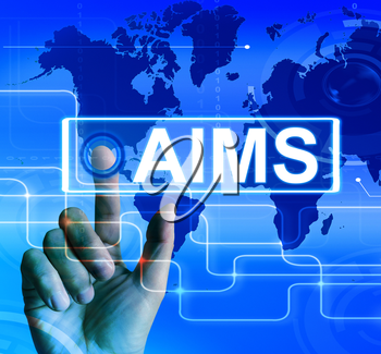 Aims Map Displaying International Goals and Worldwide Aspirations