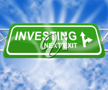 Investing Sign Indicaties Return On Investment 3d Illustration