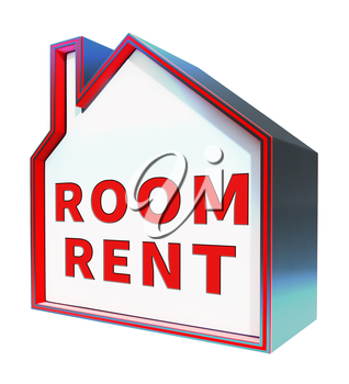 Rooms Rent House Shows Real Estate 3d Rendering