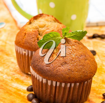 Fresh Muffins Showing Dessert Cake And Bakery