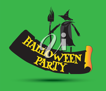 Halloween Party Concept Design and Witch