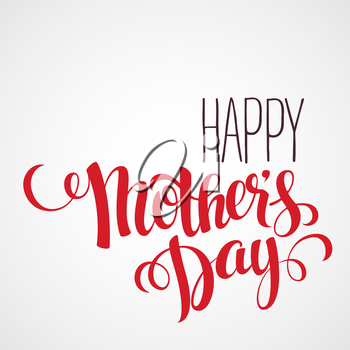 Happy mothers day Card. Calligraphic inscription. Vector illustration EPS 10