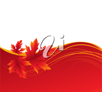 Autumn maple leaves background. Vector illustration EPS 10