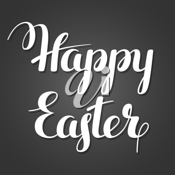 Happy Easter lettering. Concept can be used for holiday invitations and posters.