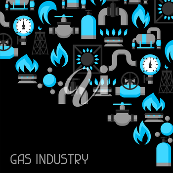 Natural gas production, injection and storage. Industrial background design.