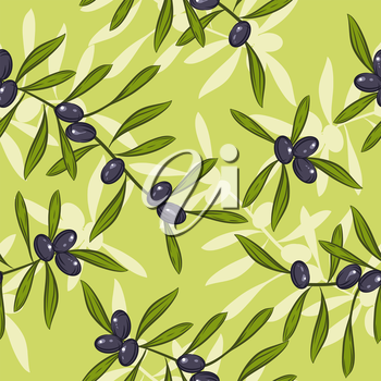 Seamless realistic olive oil background.