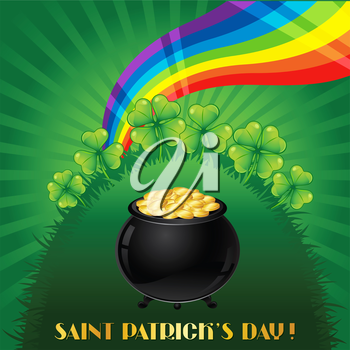 Greeting card for Saint Patrick's day.