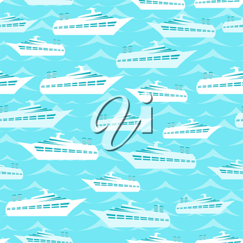 Retro seamless travel pattern of cruise liners.