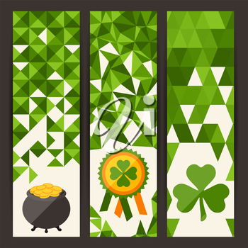 Saint Patrick's Day vertical banners.