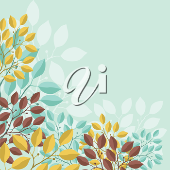 Natural abstract background with branches of leaves.