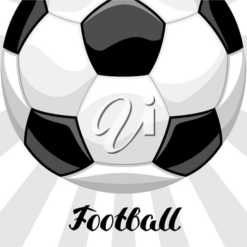Soccer or football background with ball. Sports illustration.