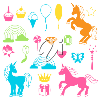 Collection of unicorns and fantasy decorative objects.