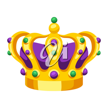 Mardi Gras carnival crown. Illustration for traditional holiday or festival.