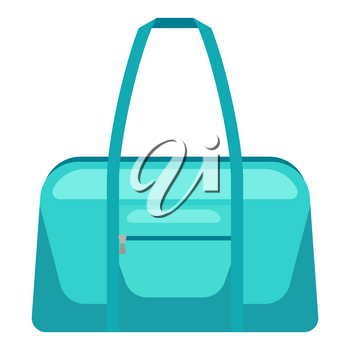 Illustration of travel textile bag. Icon or image for tourism and shops.