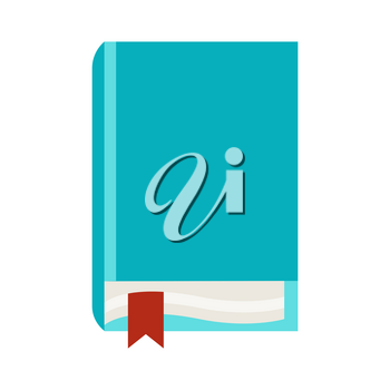 Stylized illustration of closed book. School or educational item.