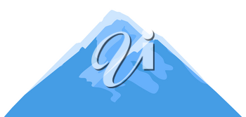 Illustration of mountain. Adversting icon or image for travel industry and business.