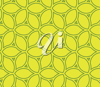 Seamless vector ornament. Modern yellow background. Geometric modern pattern