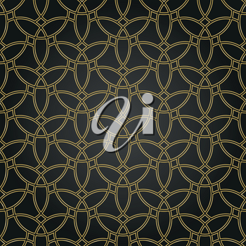 Seamless vector ornament. Modern background. Geometric modern golden pattern