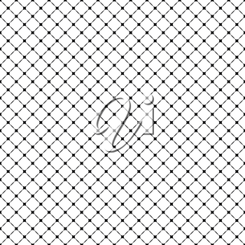 Geometric vector grid. Seamless black and white abstract pattern. Modern background