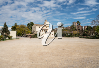 Natural Sciences museum in Park Reial in old city of Valencia on coast of Spain