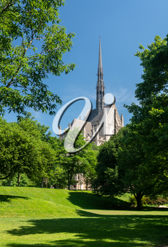 Heinz Chapel and church in the grounds of the University of Pittsburgh PA