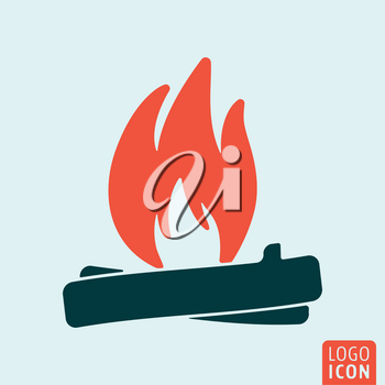 Bonfire icon isolated. Campfire symbol. Vector illustration