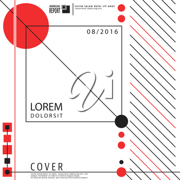 Geometry design background for cover brochures, posters, flyers and cards templates. Vector illustration.