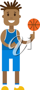 Basketball player concept. Basketball player illustration. Basketball player concept art. Basketball player flat. Basketball player icon. Basketball player isolated