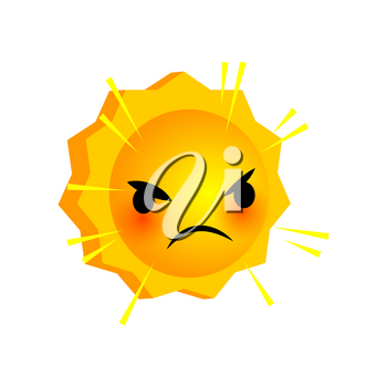 Vector illustration wicked sunny smile icon. Face emoji yellow icon. Smile cute funny emotion face on isolated background. Happy feelings, expression for message, sms.