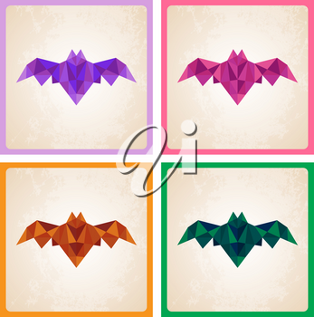 Abstract Halloween vector background with bat