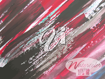 Abstract colorful watercolor vector background