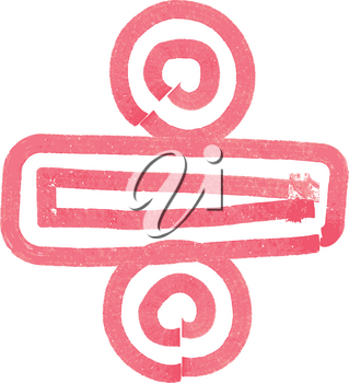 Abstract Division Symbol made with red marker vector illustration