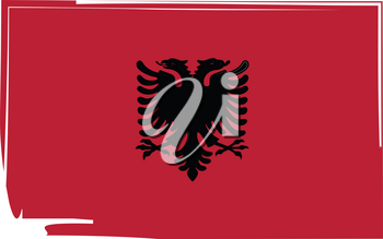 abstract Albania flag or Albanian banner vector illustration